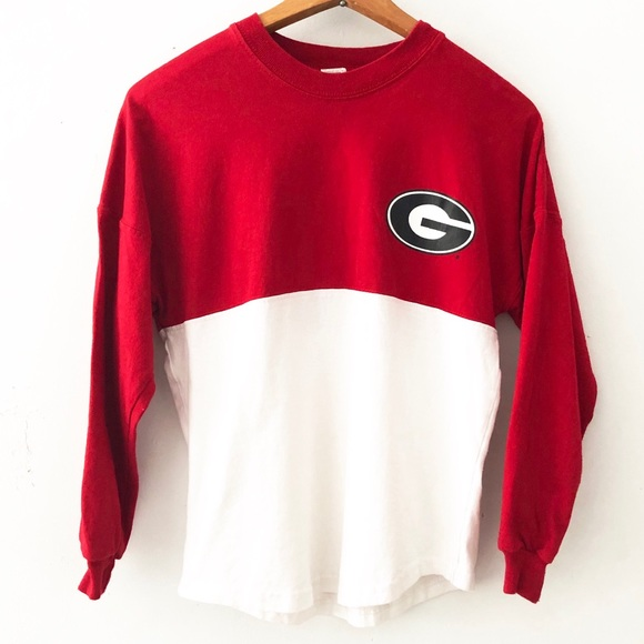Vintage Sweaters - [Vintage] Georgia Bulldogs Color Block Sweatshirt